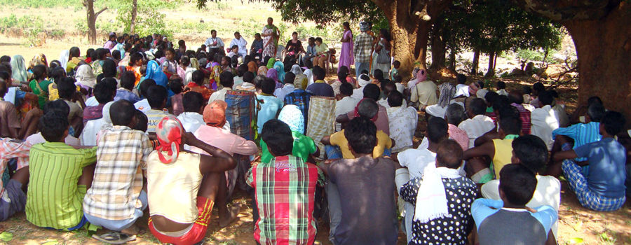 Sr. Pushpa Toppo explaining to villagers how to save their natural resources